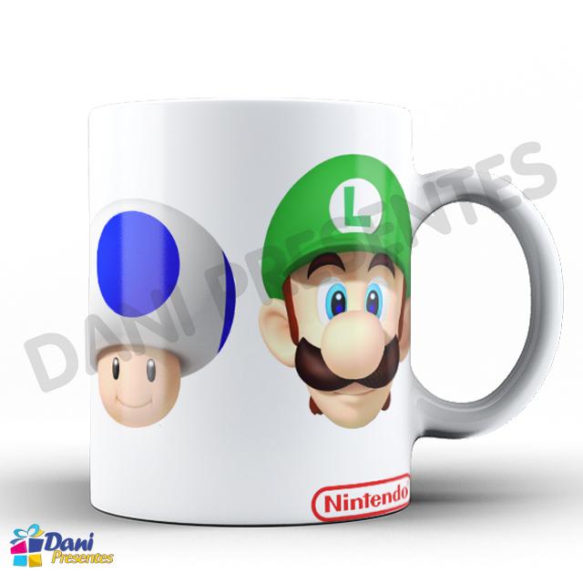 Caneca Super Mario Personagens