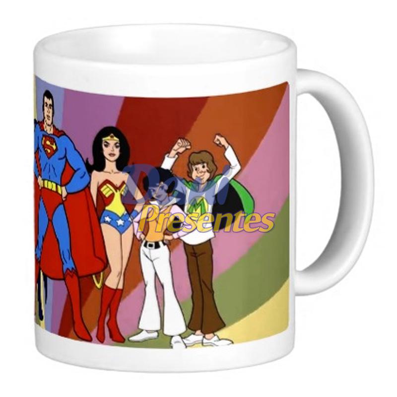Caneca Super Amigos - Retrô