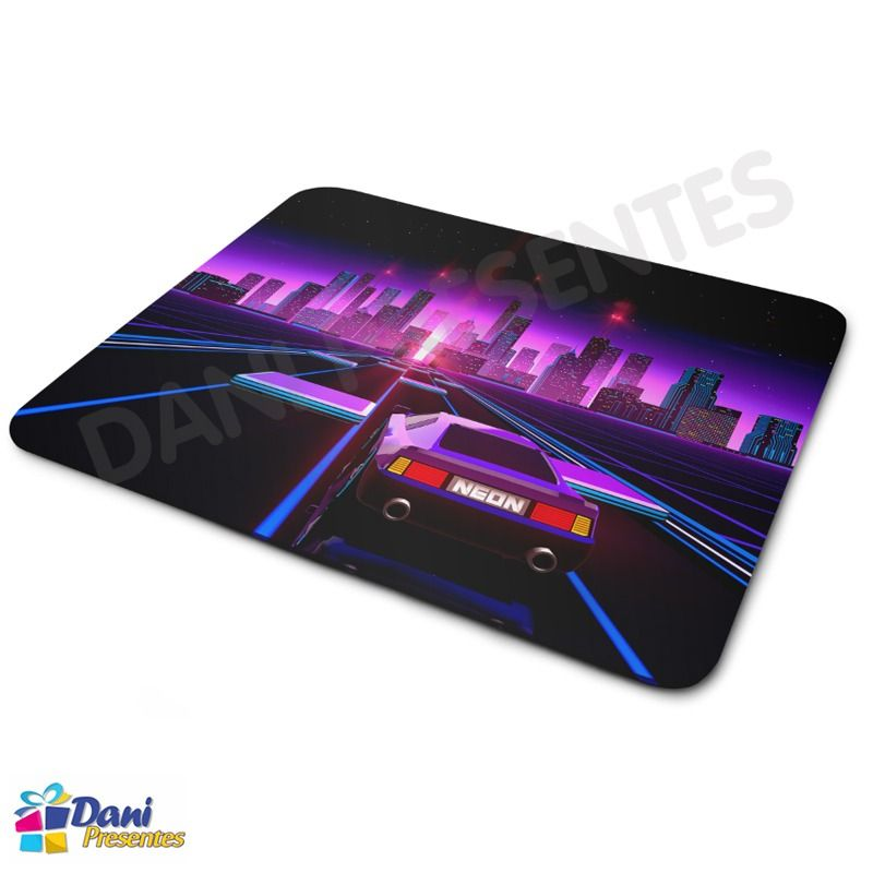 Mouse Pad Carro Neon Anos 80