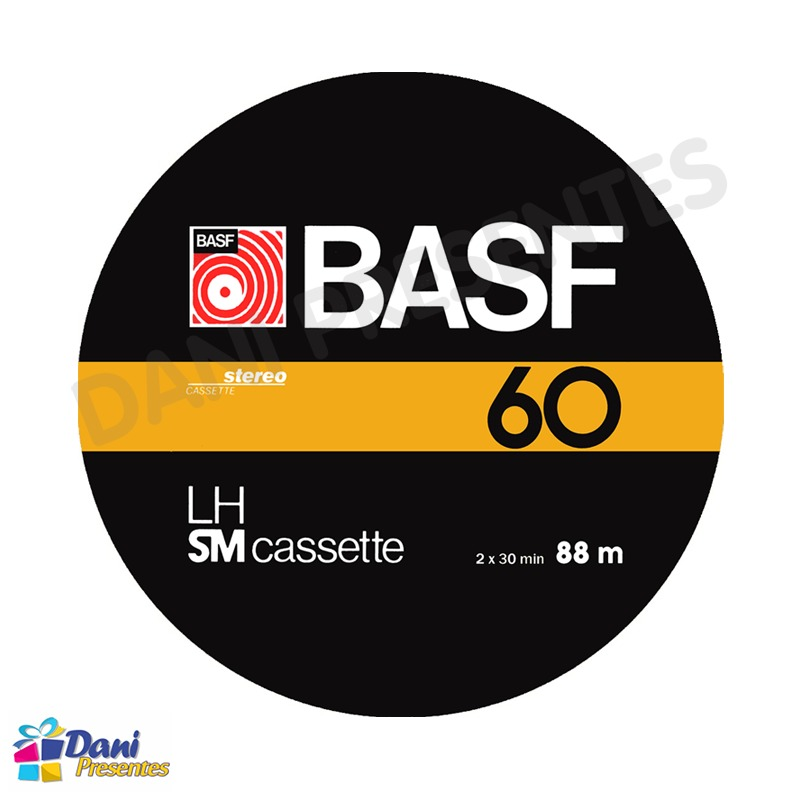Mouse Pad Fita Cassete Basf K7 LH SM