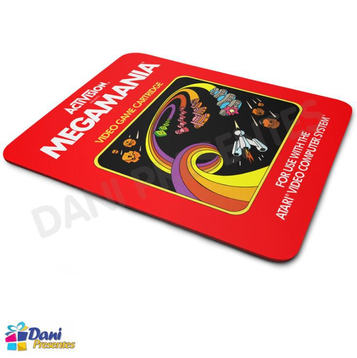 Mouse Pad Megamania Activision Atari - Retrô Game