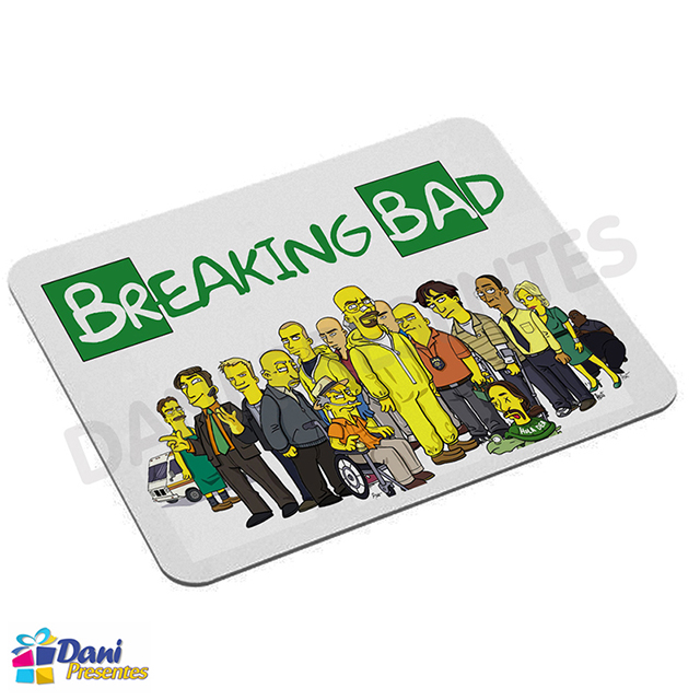 Mouse Pad Os Simpsons em Breaking Bad