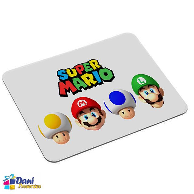 Mouse Pad Super Mario Bros - Mario - Luigi - Toads