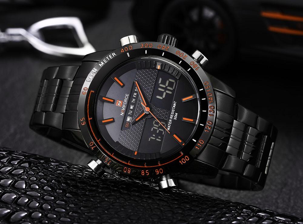 e594dec28ce Relógio de Pulso Masculino - Militar - Naviforce - Analógico e Digital -  Pulseira de aço ...