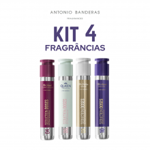 Kit 4 Perfumes Femininos Doses Antonio Banderas