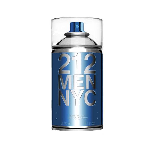 212 Men NYC Seductive Body Spray 250ml - Perfume Masculino Corporal