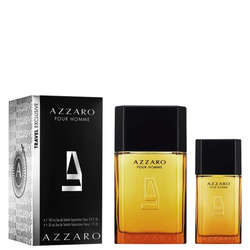 c7aa2ca44d Azzaro Pour Homme Duo EDT 100ml + Eau de Toilette 30ml - Kit Perfume  Masculino -