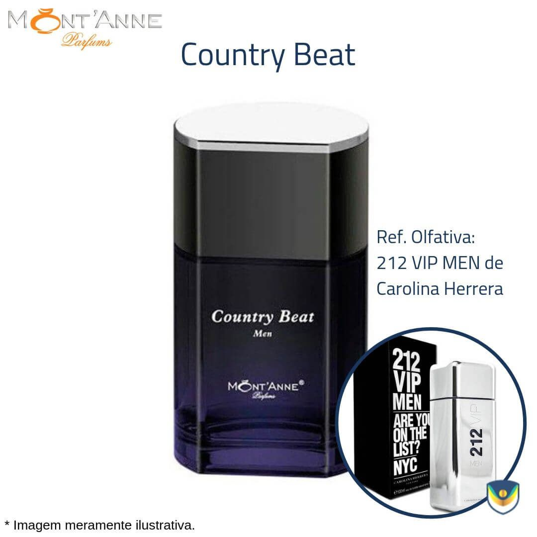 Country Beat for Men Eau de Parfum Mont'Anne 100ml - Perfume Masculino