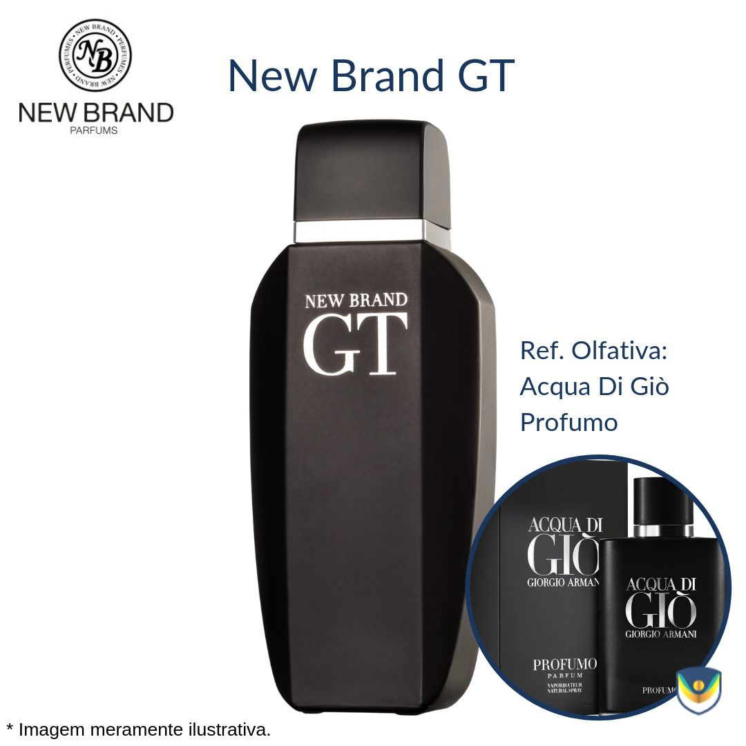 New Brand GT For Men Eau de Toilette 100ml - Perfume Masculino