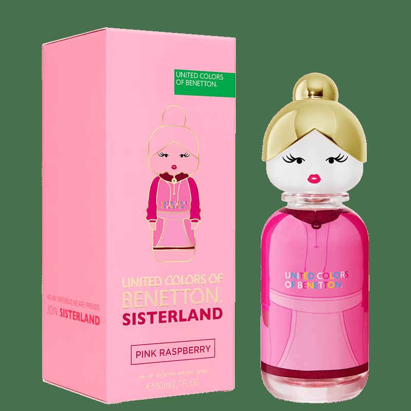 Perfume Pink Raspberry Sisterland United Colors of Benetton EDT 80ml - Perfume Feminino