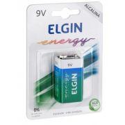 Bateria Alcalina  9V - Elgin