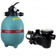 Filtro Dancor para Piscina DFR15-7 Com Bomba 1/2CV Bivolt