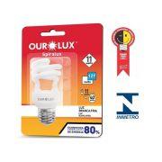 Lampada Ourolux Fluor Espiral Luz Branca 11WX127V