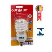 Lampada Ourolux Fluor Espiral Luz Branca 25W X 127V