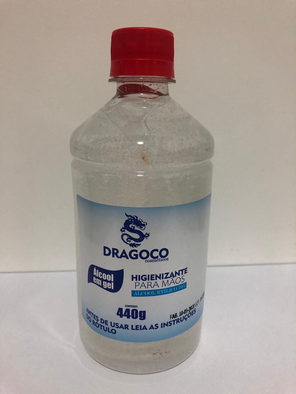 Álcool Gel 70% Antisséptico Higienizador - 440g (Kit com 12 unidades)