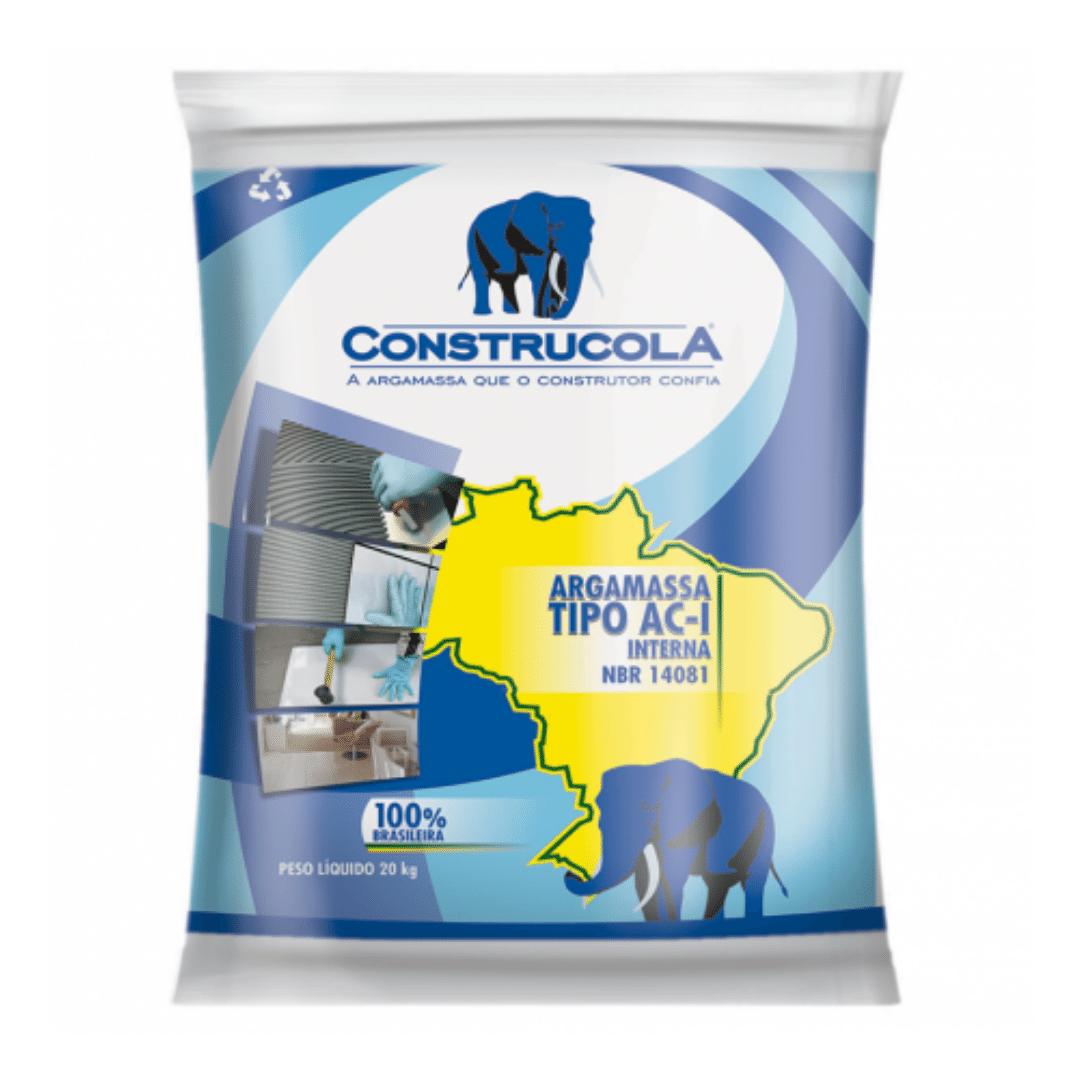 Argamassa Construcola Interna AC-I Cor Cinza - 20Kg