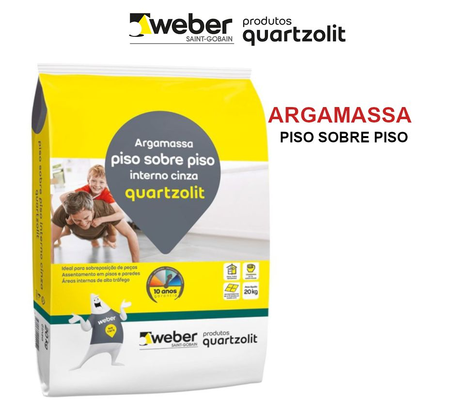 Argamassa Quartzolit Cimentcola Uso Sobre Piso Interna Cor Cinza 20Kg