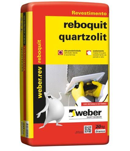 Argamassa Quartzolit Reboquit Cor Branca 20Kg