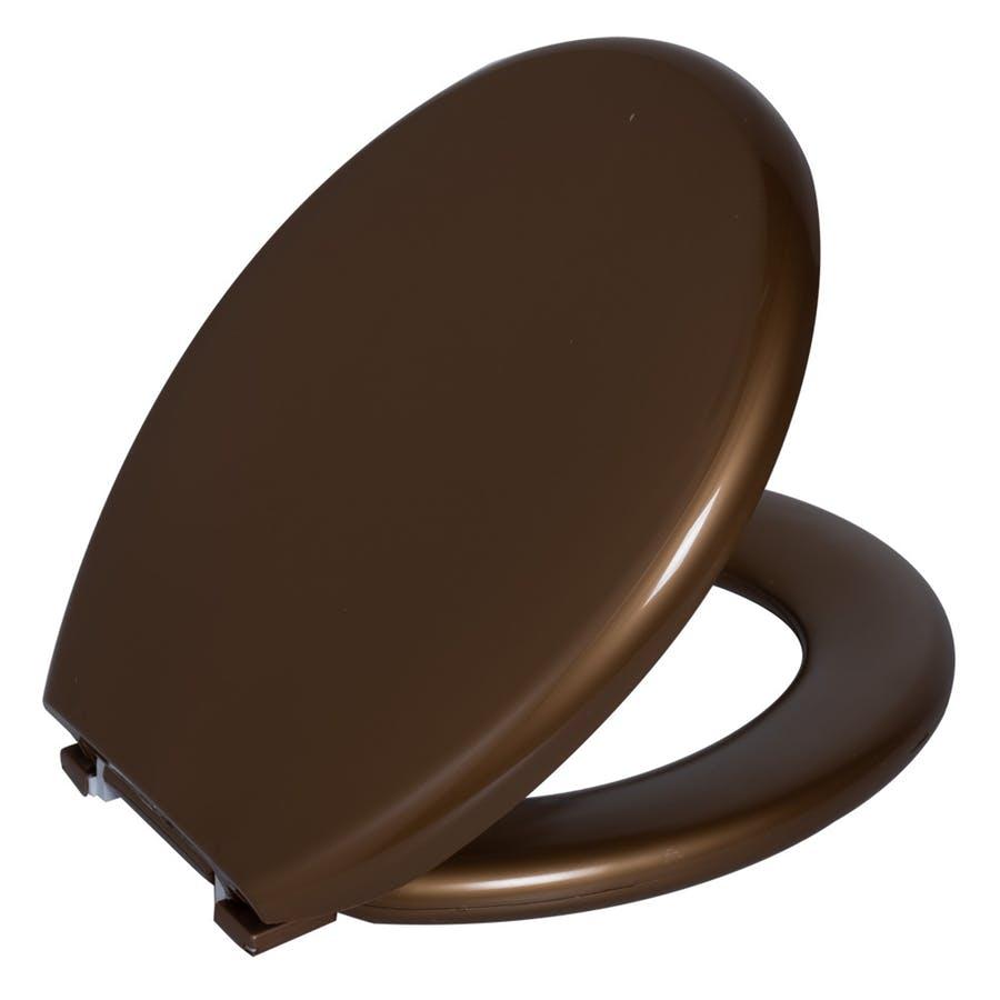 Assento Sanitario Astra Oval Almofadado TPK/AS - Metalizado Bronze (BRO)