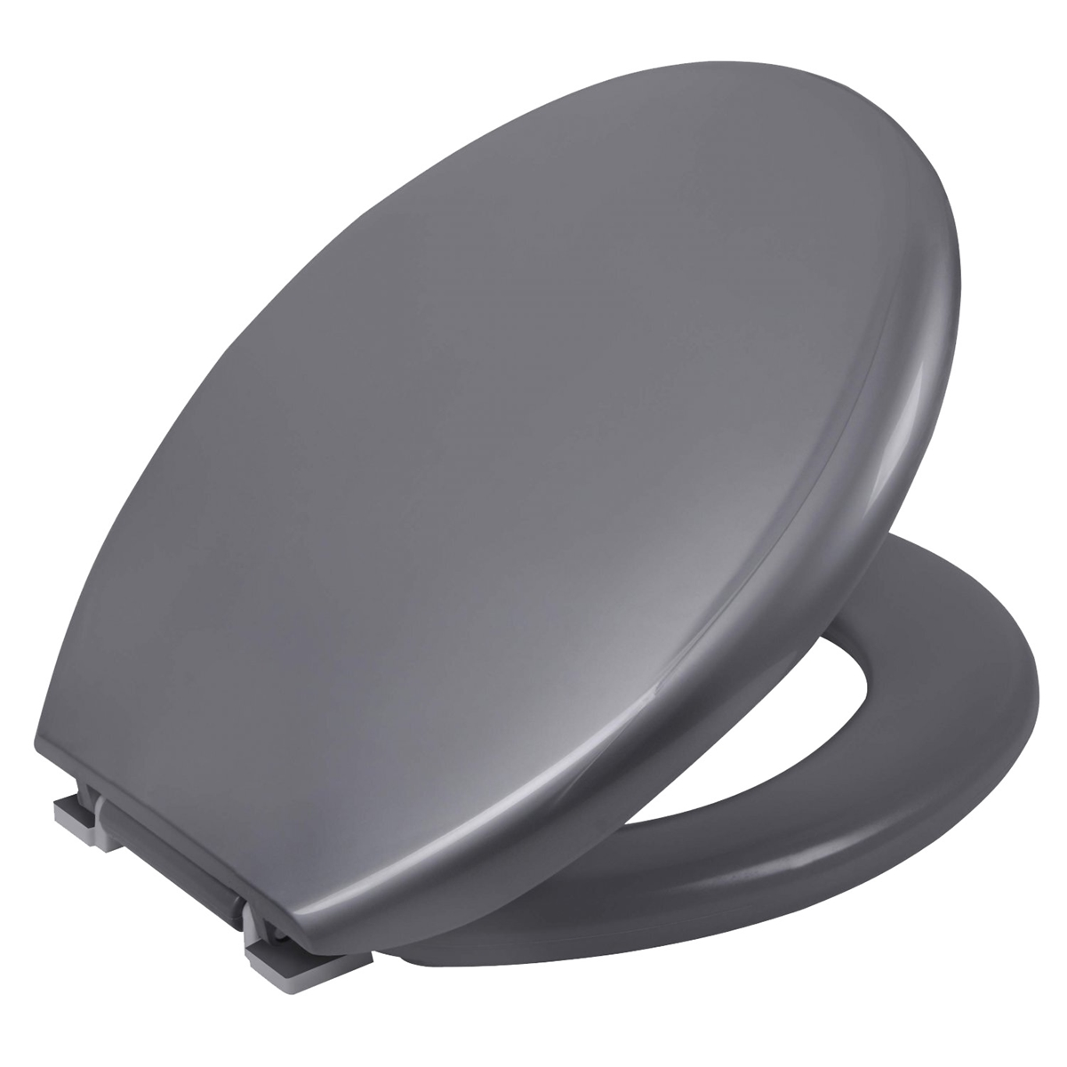 Assento Sanitario Astra Oval Almofadado TPK/AS - Metalizado Prata (PRA)