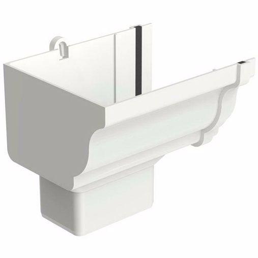 Bocal Aquapluv Style Retangular Esquerdo Branco