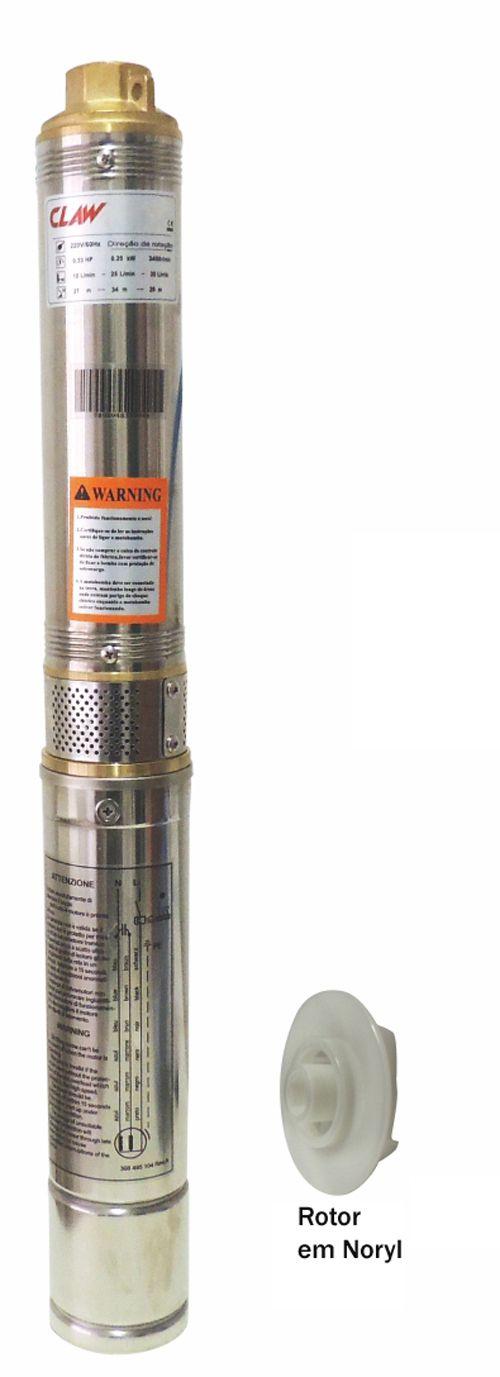 Bomba Claw Submersa Caneta 2.5SDIM2/21 - 3/4CV X 127V
