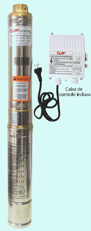 Bomba Claw Submersa Caneta 3SDM109 - 1/2CV