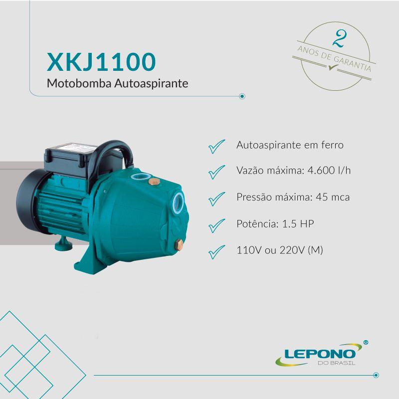 Bomba Lepono Auto Aspirante XKJx1100 - 1,5CV X 127V