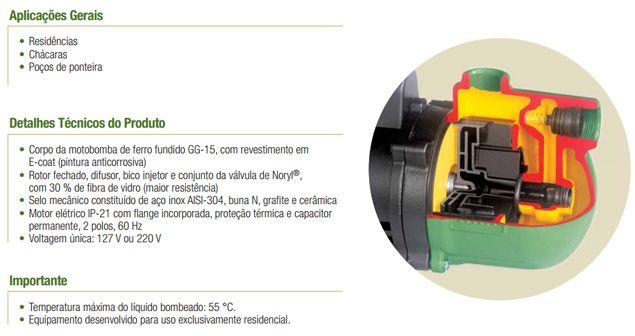 Bomba Schneider Auto Aspirante ASP98 - 1/2CV