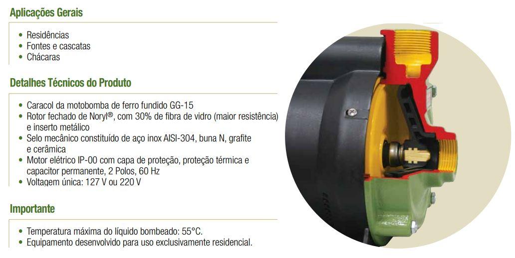 Bomba Schneider Centrifuga BCR-2010 - 1CV