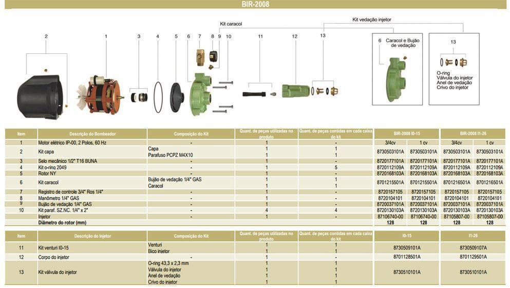 Bomba Schneider Injetora xBIR2008 I015 - 1CV