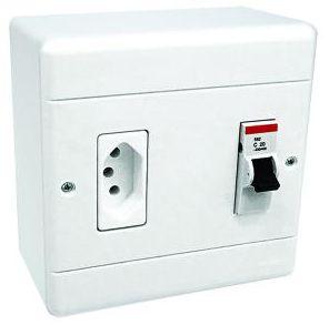 Caixa Sobrepor para Ar Condicionado com Tomada 20A com Disjuntor 25A - Perlex