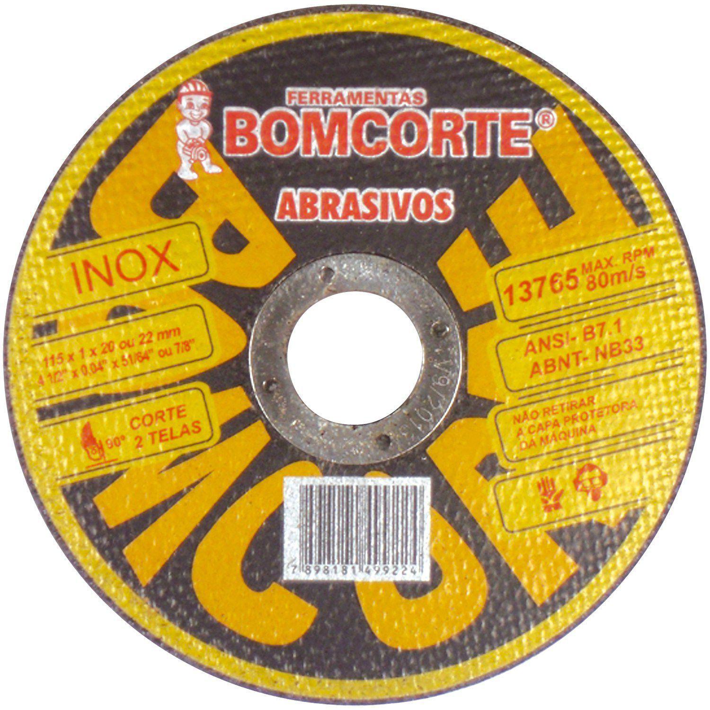 Disco Cortar Aco Inox 115mm X 1mm