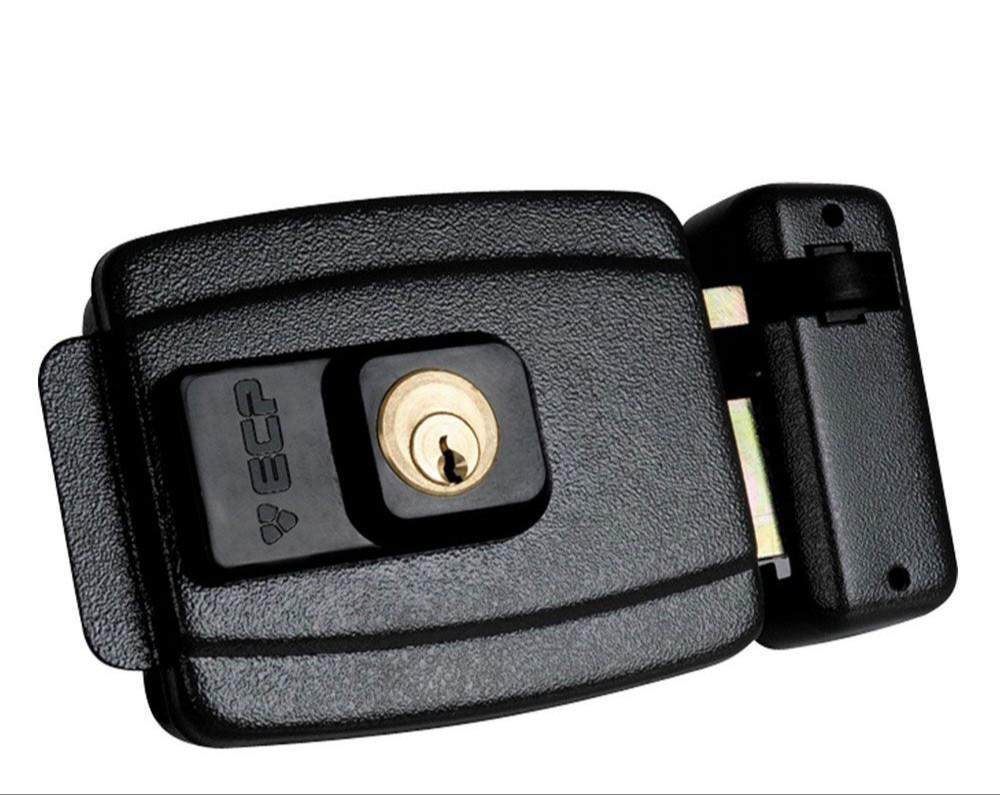 Fechadura ECP Eletrica FX 500 Preta 12V