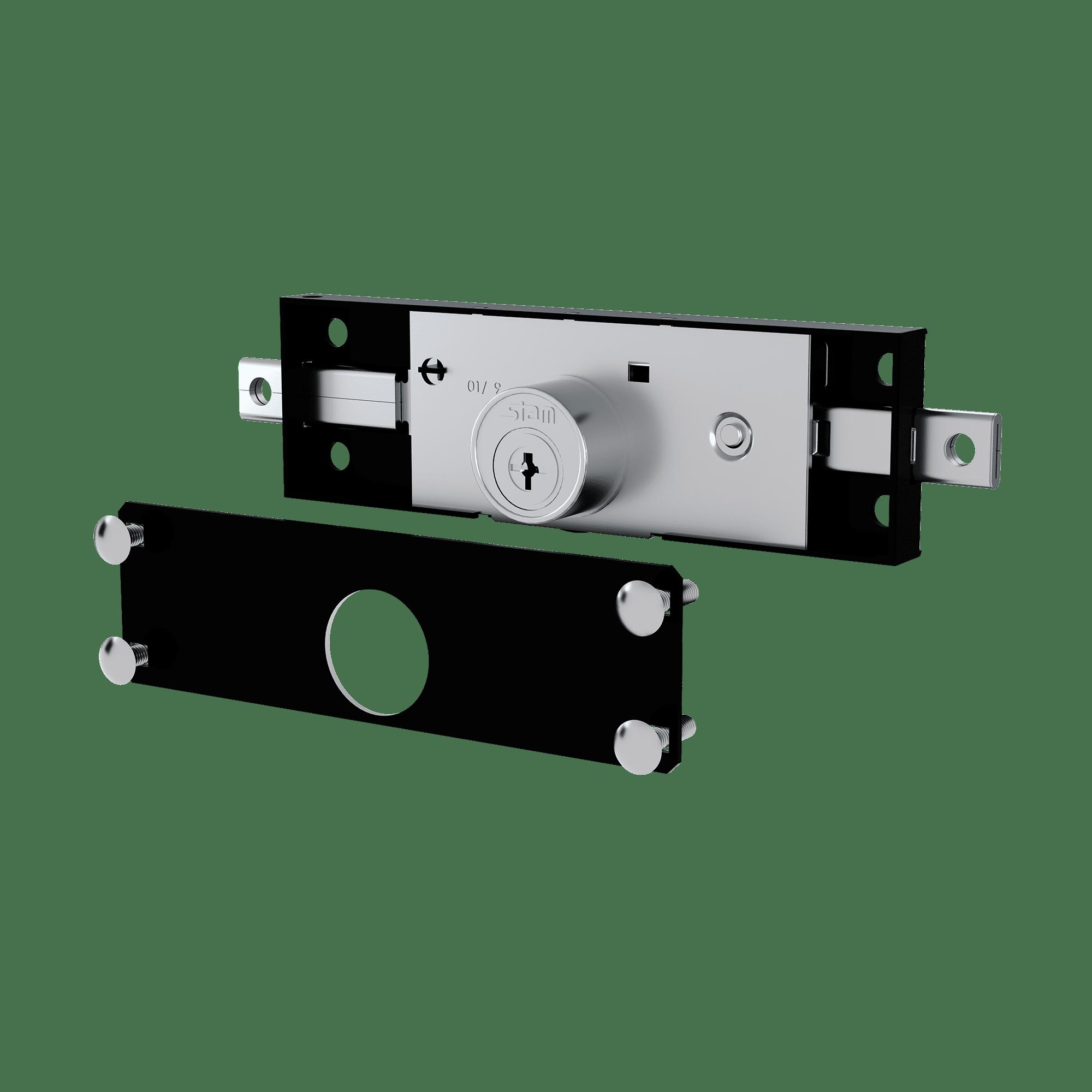 Fechadura Stam 1201 Porta de Enrolar Tetra Inox
