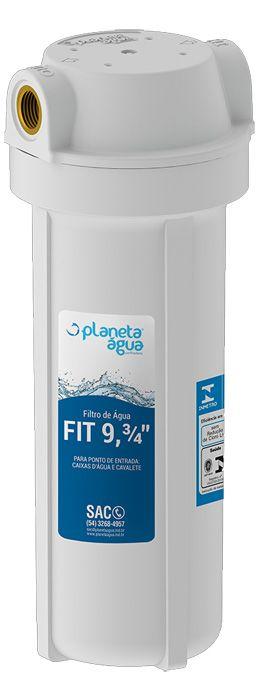 Filtro para Agua Fit 9.3/4 branco com Refil PP Rosca 3/4