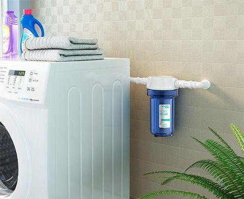 "Filtro para Agua Fit Lav 7"" Azul com Refil PP Rosca 3/4"