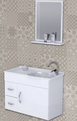 Gabinete Banheiro Siena com espelho 55,5cm