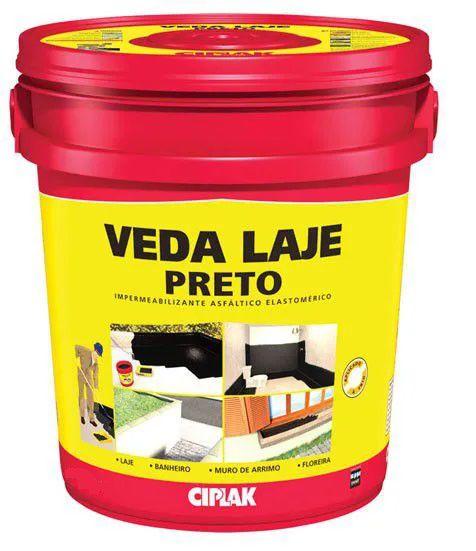 Impermeabilizante Ciplak Veda Laje Preto - 3,6L