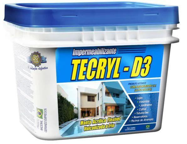 Impermeabilizante Tecryl D3 Azul Tamanho:18Kg