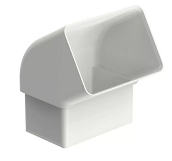 Joelho 60 Aquapluv Style Retangular Branco