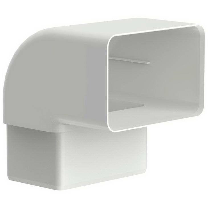Joelho 90 Aquapluv Style Retangular Branco