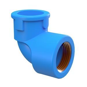 Joelho 90 Soldavel Azul Bucha Latao PVC