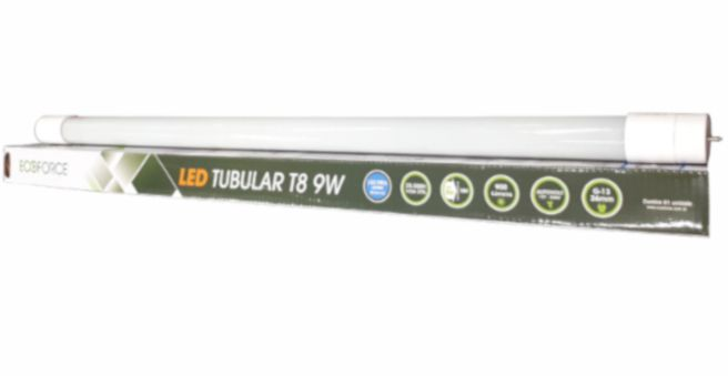 Lampada Eco Force Led Tubular Branca 9W Bivolt