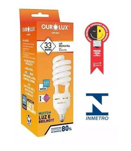 Lampada Ourolux Fluor Espiral Luz Branca 33WX127V
