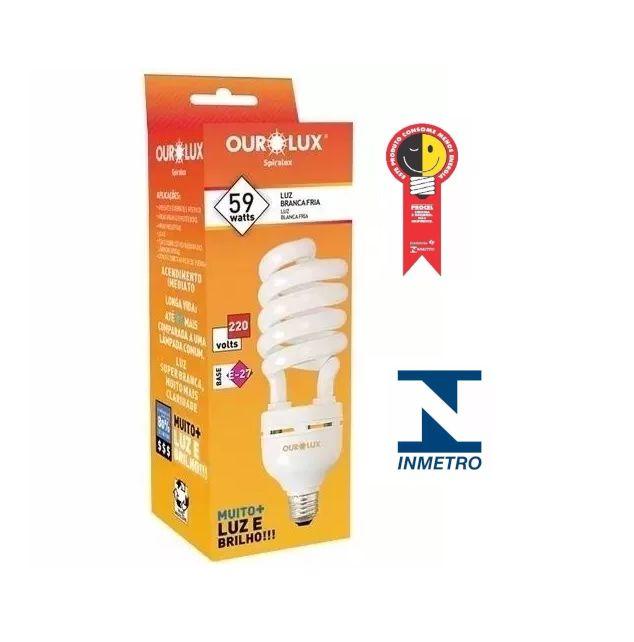Lampada Ourolux Fluor Espiral Luz Branca 59WX220V