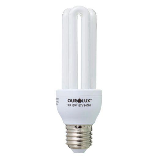 Lampada Ourolux Fluor Luz Branca 15W X 127V (3U)