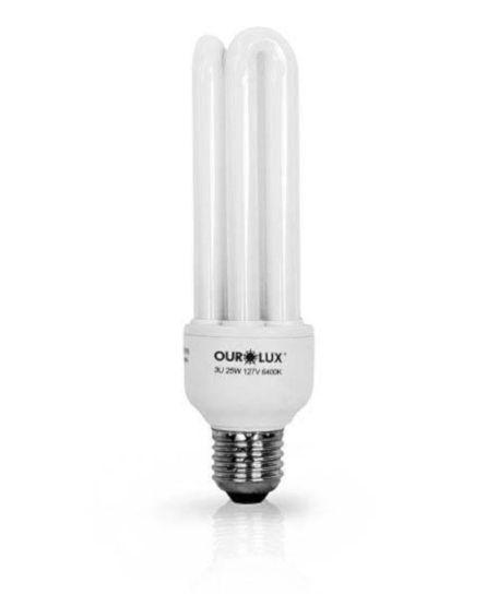 Lampada Ourolux Fluor Luz Branca 20W X 127V (3U)