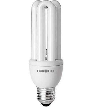 Lampada Ourolux Fluor xLuz Amarela 15W X 127V (3U)