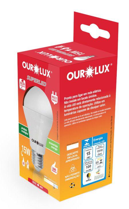 Lampada Ourolux Super Led 15W Bivolt